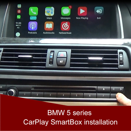 BMW 5 series CarPlay SmartBox installation